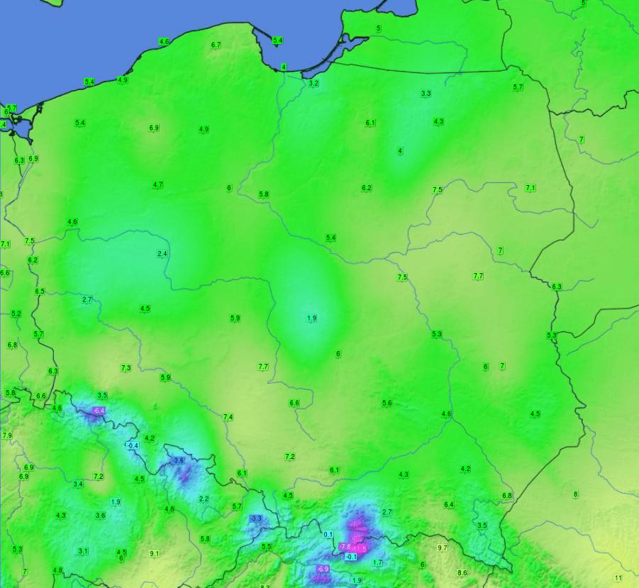 Pogoda. Temperatura odnotowana w sobotę.