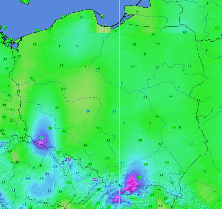 Pogoda. Temperatura 7 kwietnia 2021.