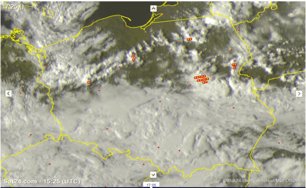 Chmury i burze 17 kwietnia 2021.