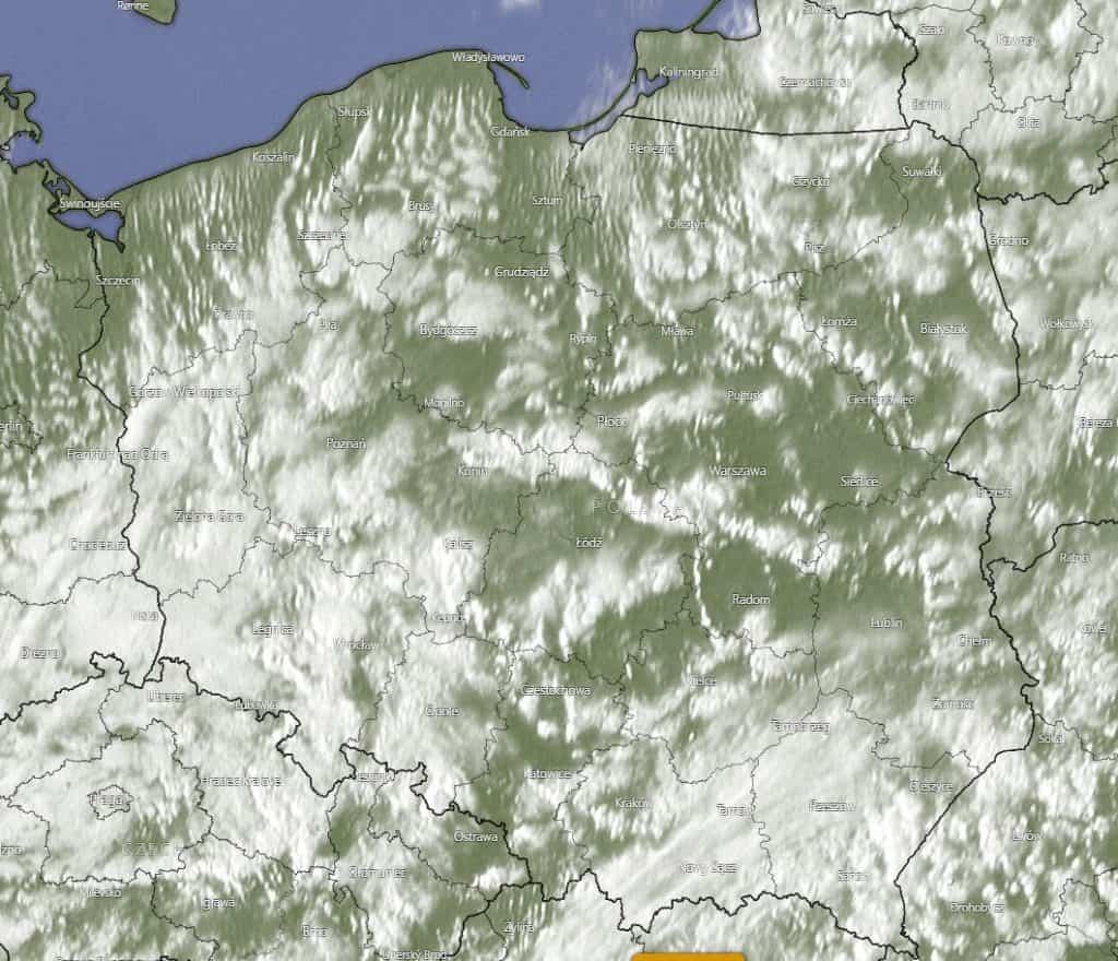 Pogoda. Zdjęcie satelitarne