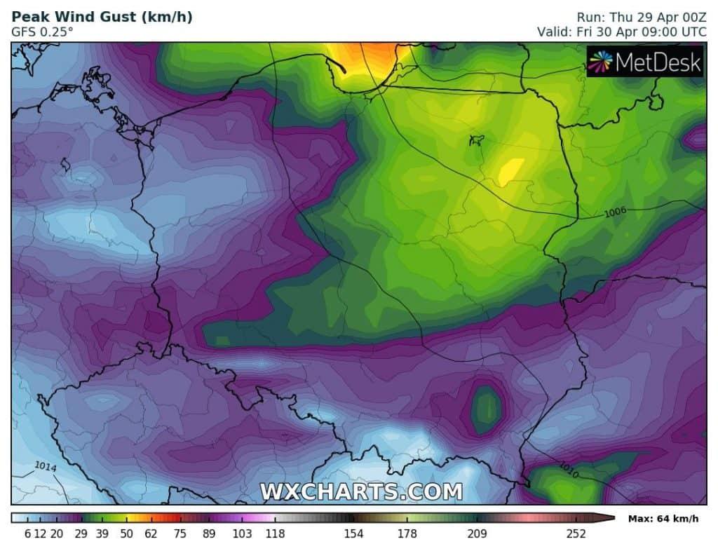 Pogoda na piątek 30 kwietnia dla Polski