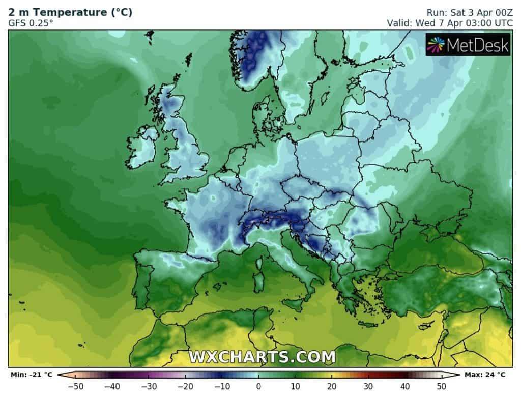 Silny mróz w Europie w najbliższych dniach