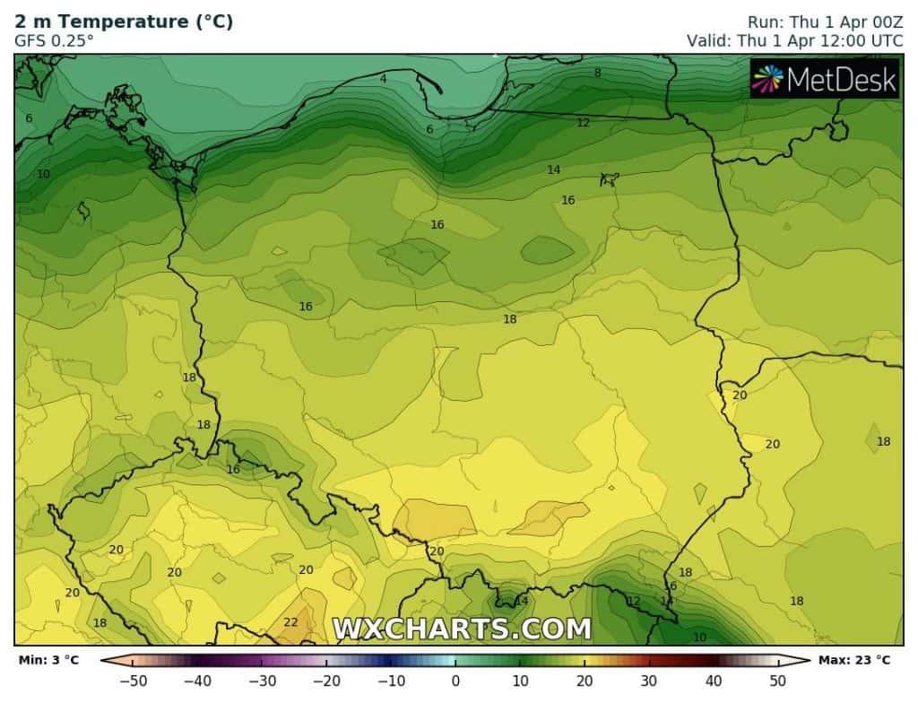 Pogoda na 1 kwietnia. Ciepły dzień nad Polską