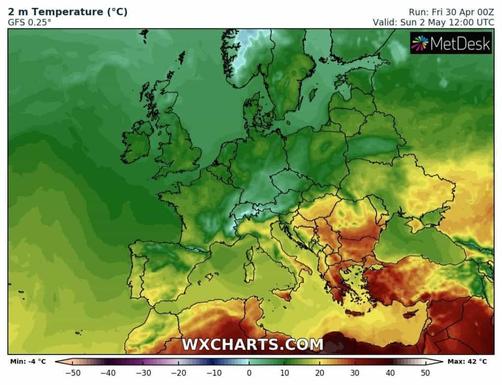 Upał w Europie Południowej