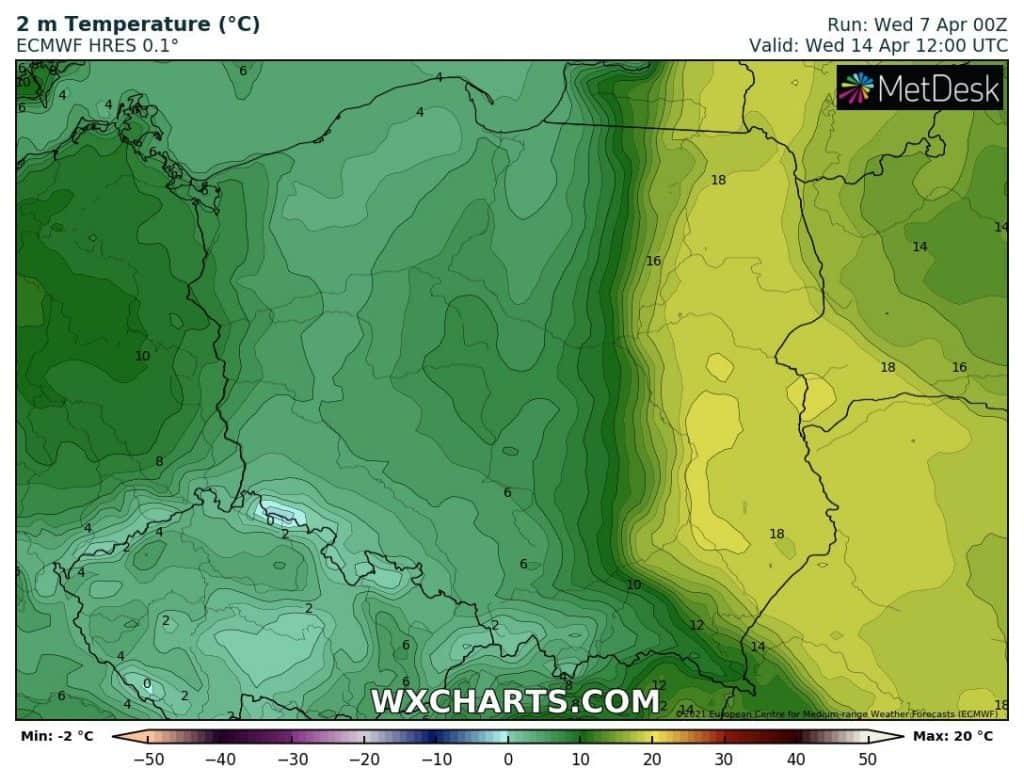 Ochłodzenie po weekendzie w Polsce