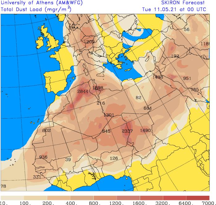 Pył saharyjski maj 2021.