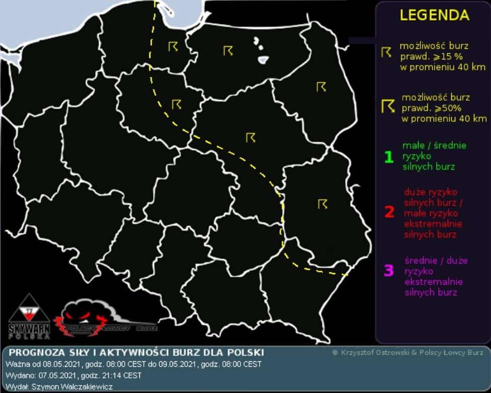 Pogoda na sobotę. Burze w Polsce wschodniej
