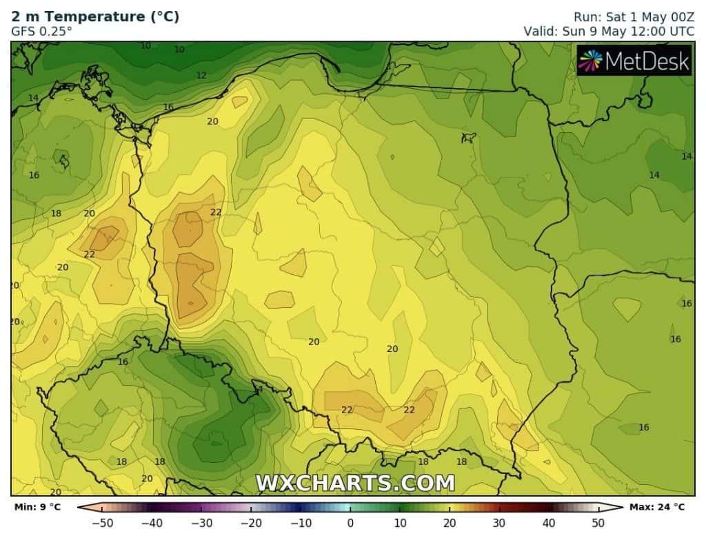 Ciepło w Polsce, ale jeszcze nie upał