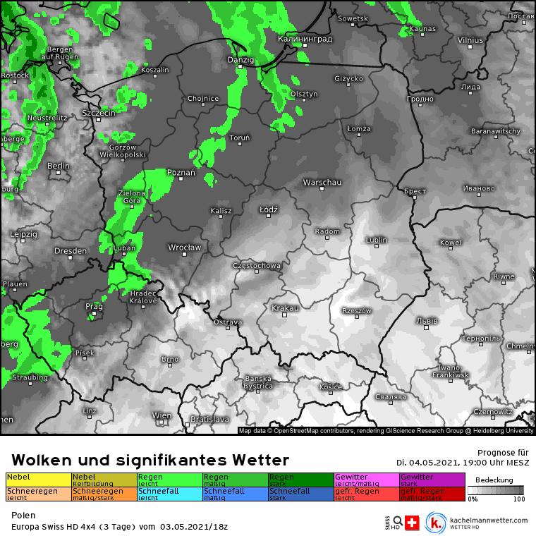 Pogoda 4 maja. Opady nad Polską