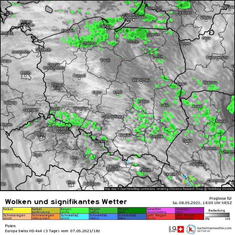 Opady nad Polską. Możliwy śnieg
