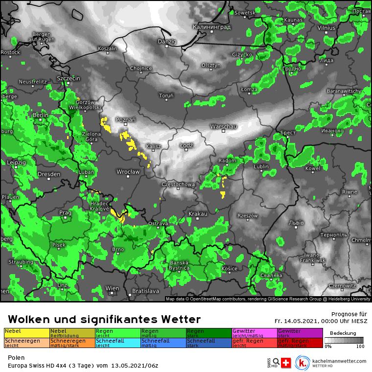 Pogoda w nocy. Opady nad Polską