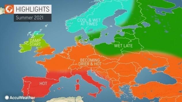 Pogoda na lato 2021