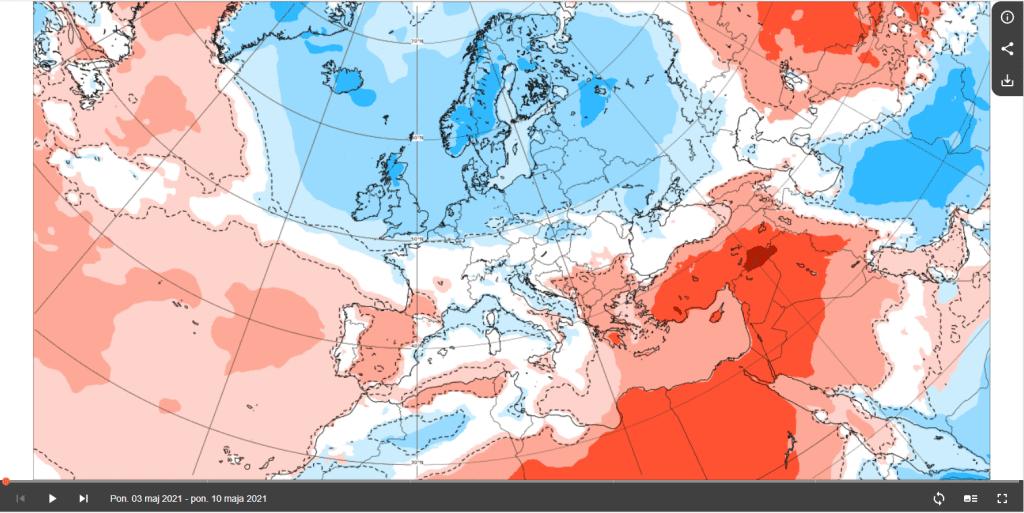 Pogoda według ECMWF