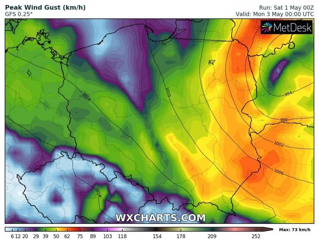Pogoda na 2 maja. Załamanie pogody, wichura, burze i ulewy