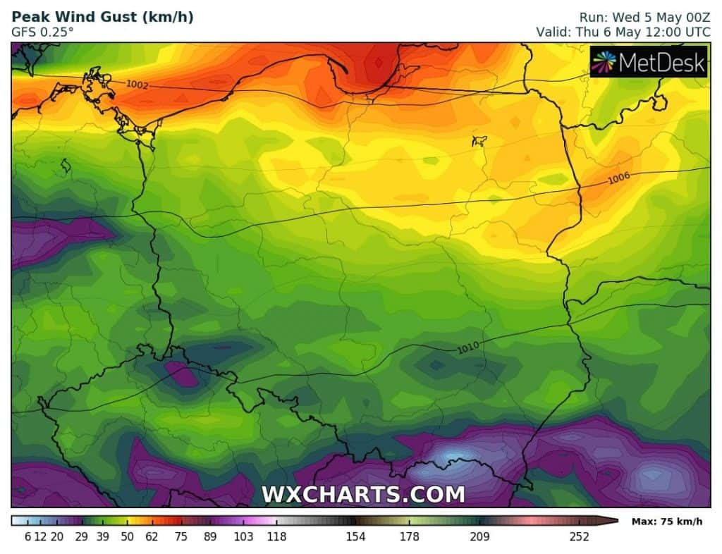 Pogoda na czwartek 6 maja w Polsce