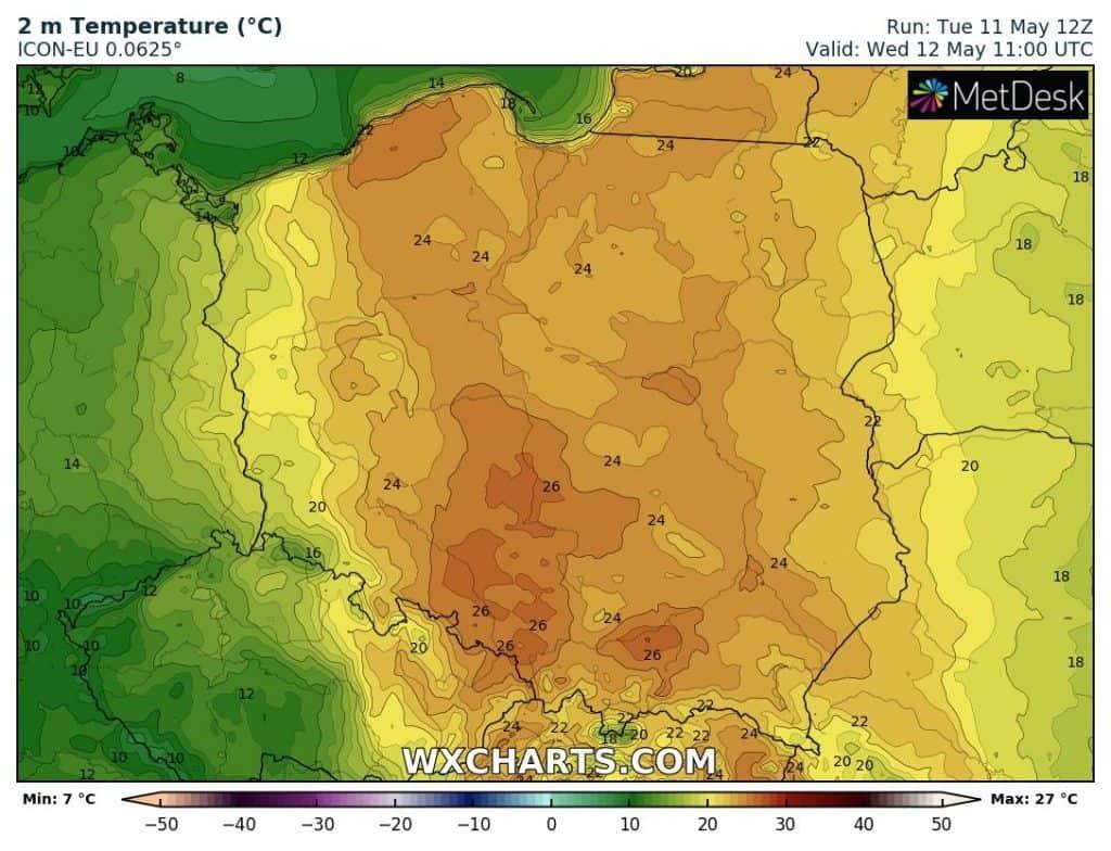 Pogoda na dziś. Temperatury w Polsce 12 maja 2021