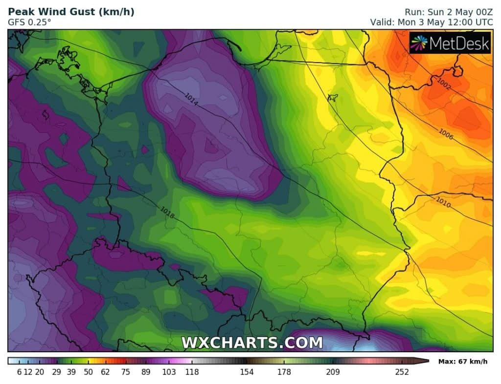 Pogoda na poniedziałek 3 maja dla Polski