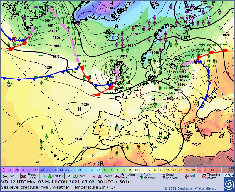 Pogoda nad Polską poniedziałek 3 maja