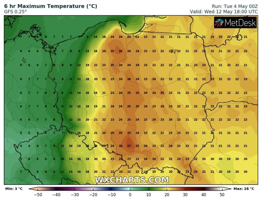 Wstępna prognoza temperatury