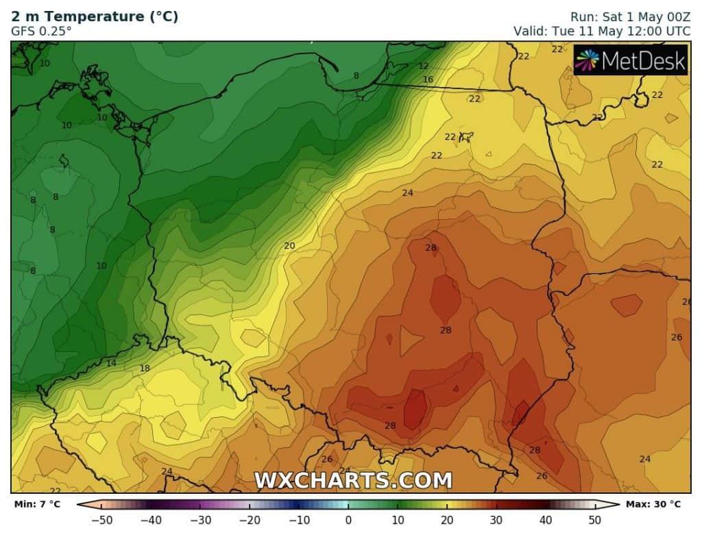 Upał w Polsce 11 maja