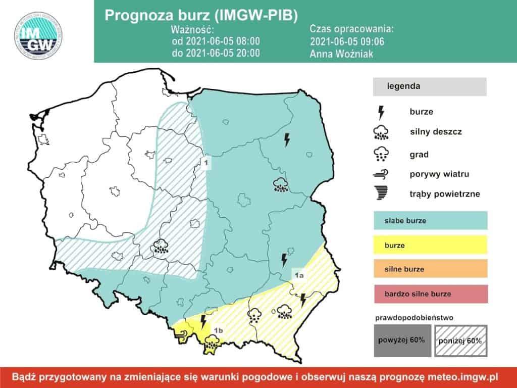 Pogoda. Sobota burze w Polsce