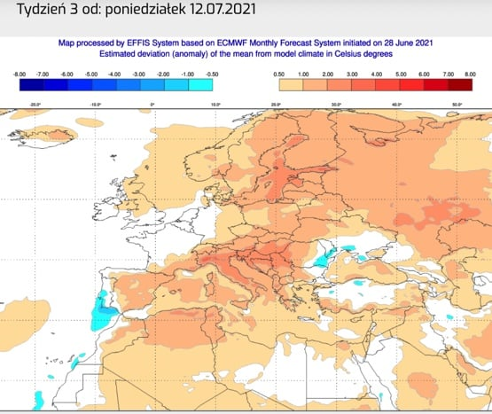 lipiec pogoda w Polsce