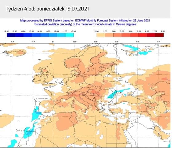 Pogoda. Długoterminowa lipiec 2021
