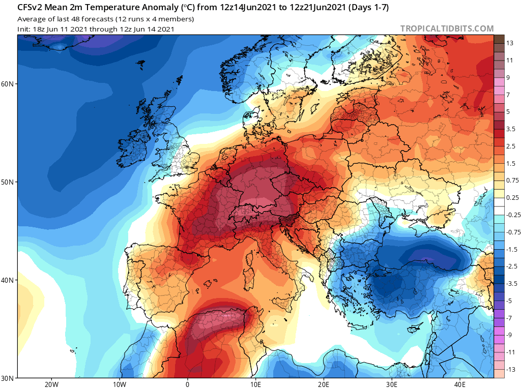 Pogoda. Od 14 czerwca do 21 czerwca 2021.