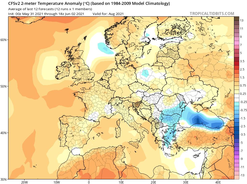 Orientacyjna prognoza na sierpień 2021.