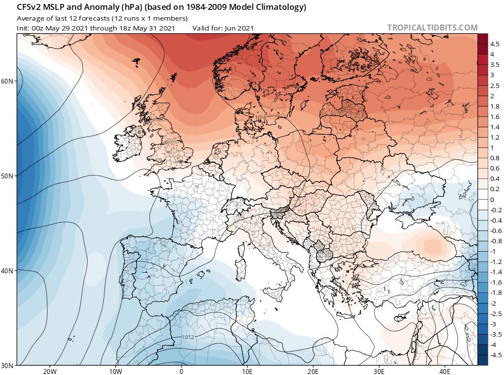Pogoda długoterminowa na czerwiec 2021.