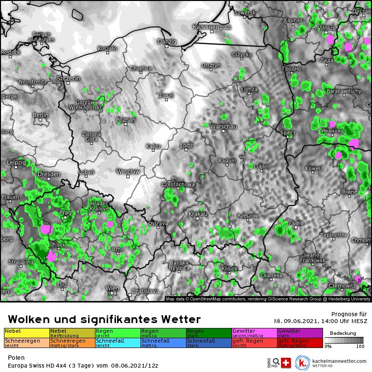 Pogoda na dziś. Opady nad Polską 9 czerwca