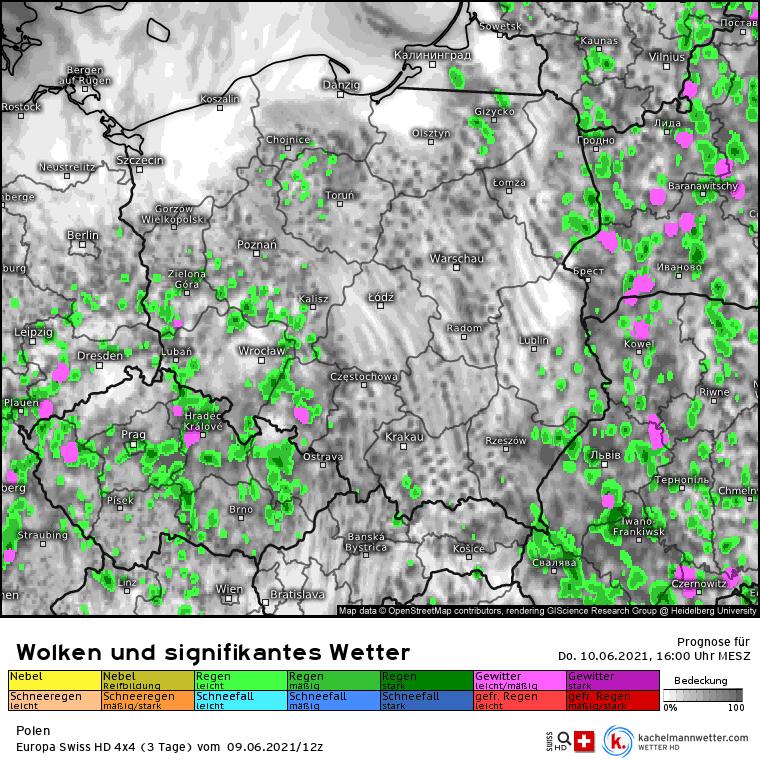 Burze w czwartek w Polsce