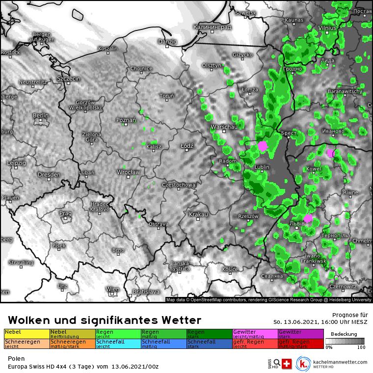 Pogoda na dziś. Opady na wschodzie Polski 13 czerwca