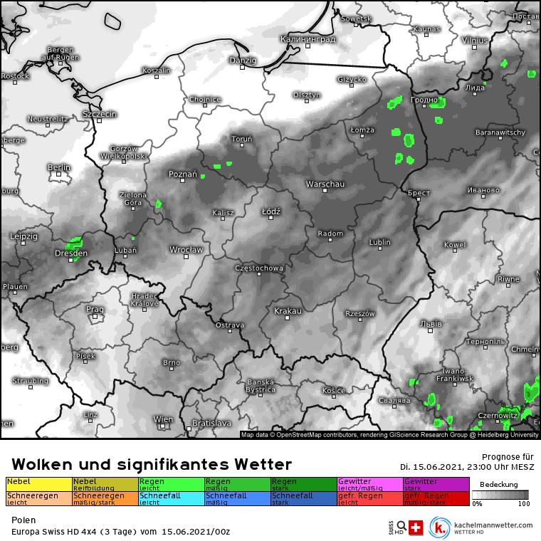 Pogoda na noc. Praktycznie bez opadów nad Polską
