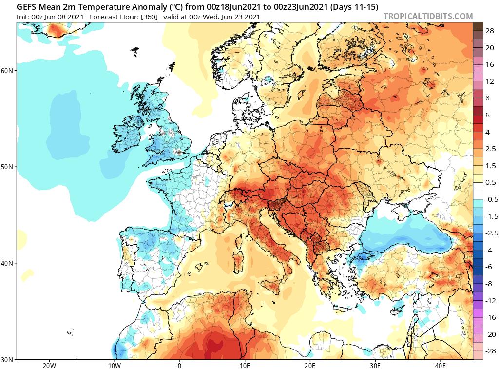 Wysoka temperatura w 3 dekadzie czerwca 2021