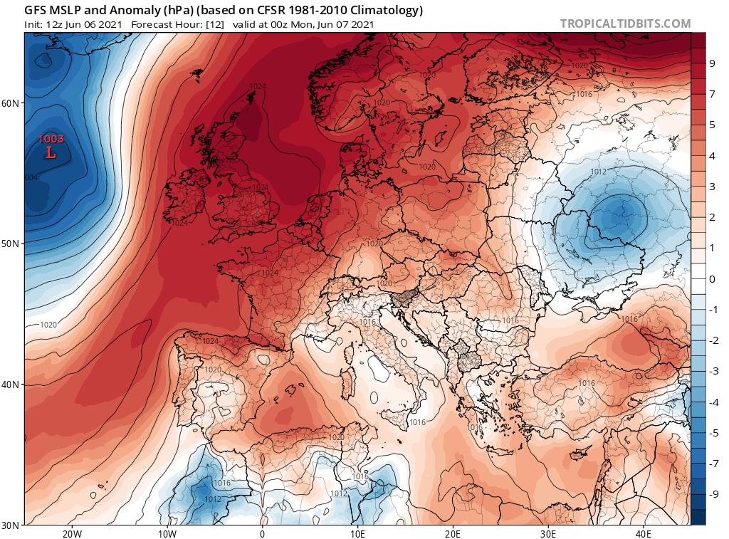 Pogoda. Wyż nad Polską i Europą