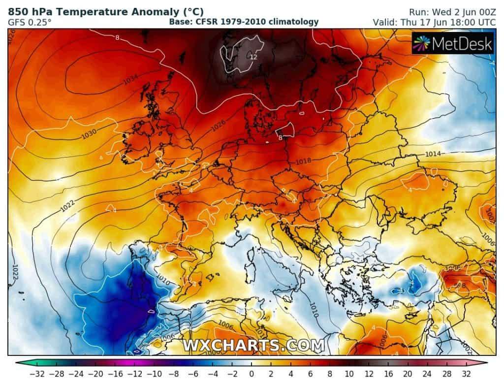 Pogoda. Gorąco i upały w Europie