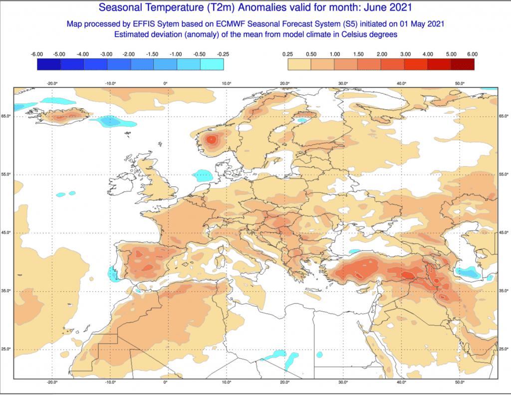 Pogoda na czerwiec temperatura 2021.