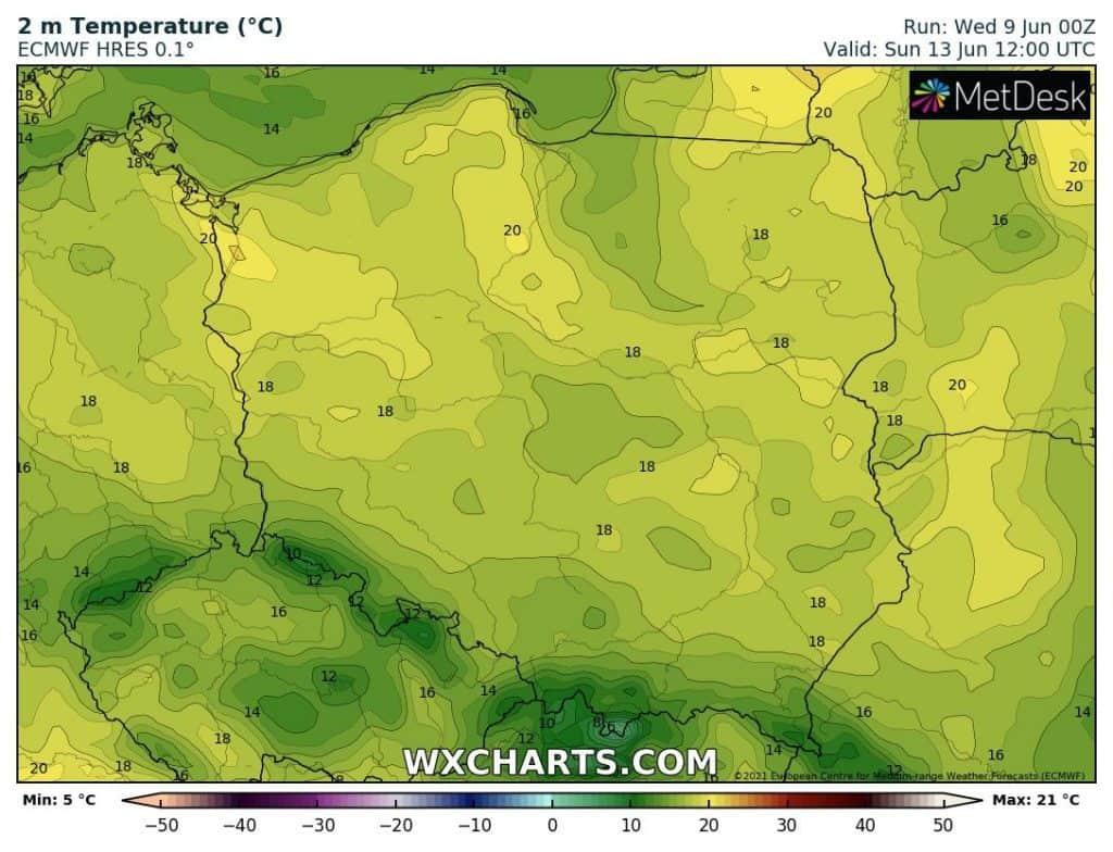 Brak upałów w tym tygodniu. Ochłodzenie nad Polską