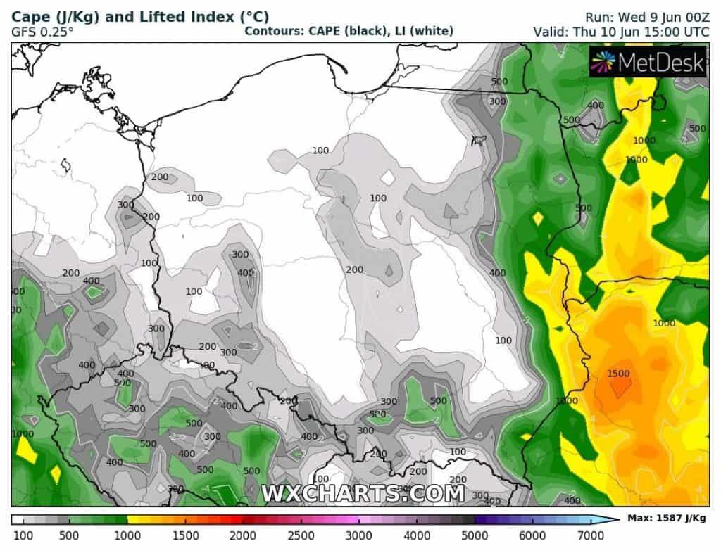 Pogoda na czwartek 10 czerwca dla Polski