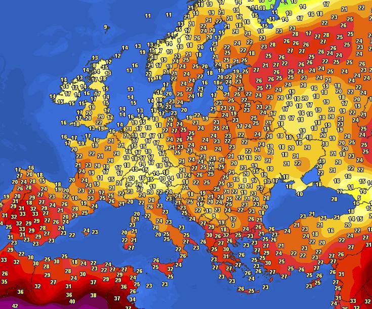 Pogoda w Europie. Upał i burze