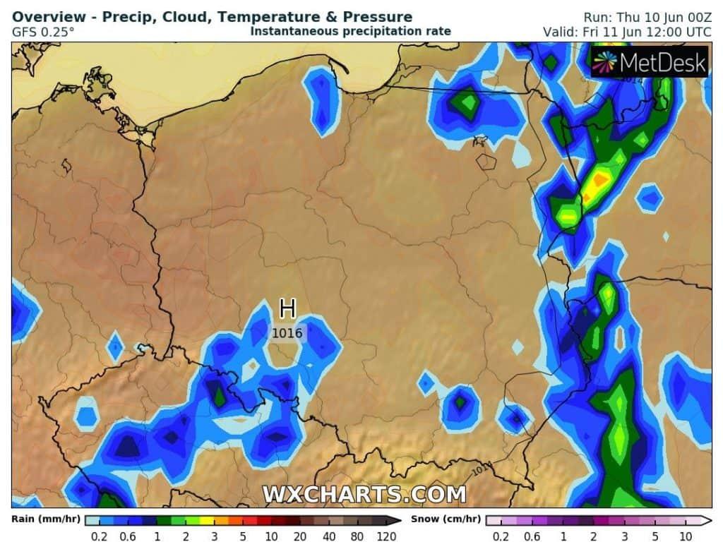 Pogoda na dziś , piątek 11 czerwca
