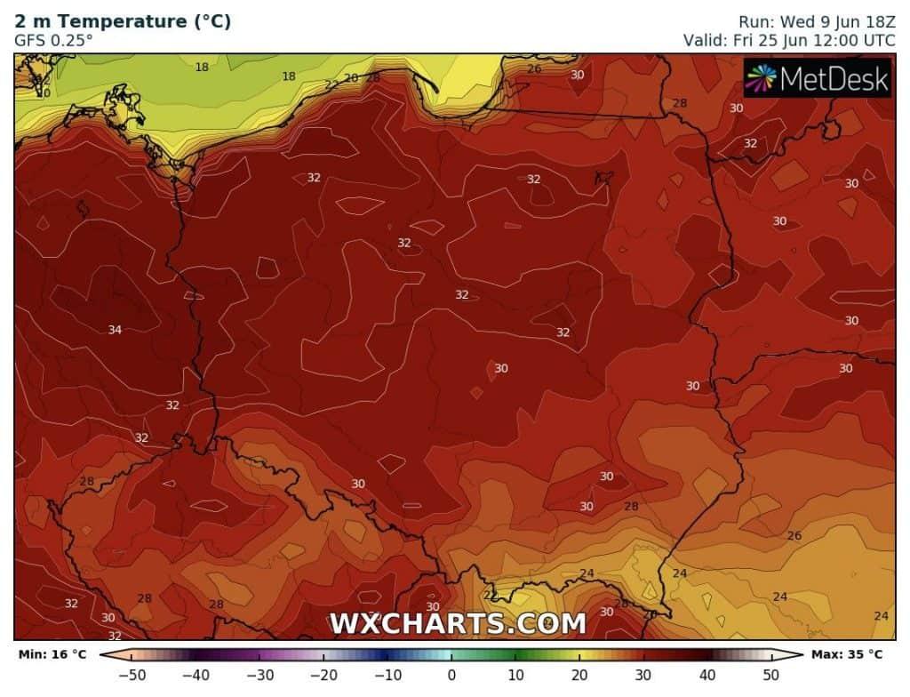 Silny upał w Polsce na koniec miesiąca