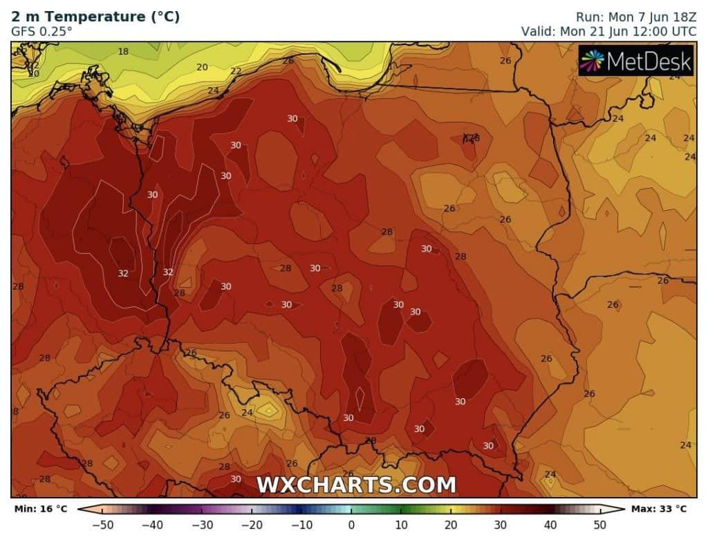 Silny upał w Polsce w czerwcu
