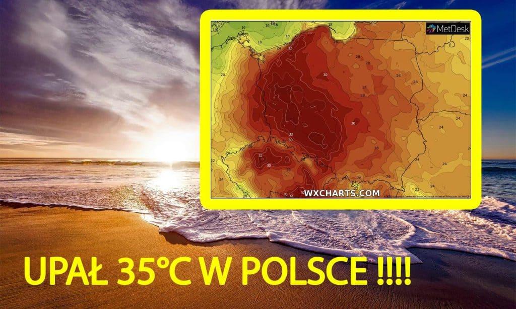 Upał 35 stopni w Polsce. Fala upałów w czerwcu