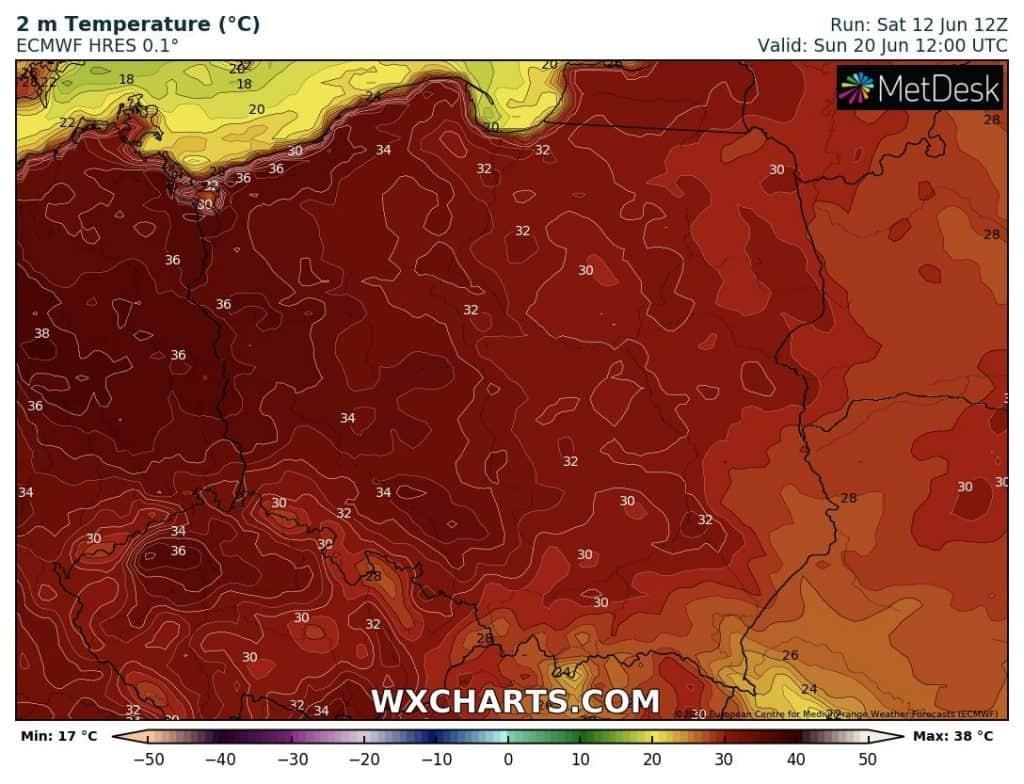 Silny upał w Polsce w weekend 19-20 czerwca