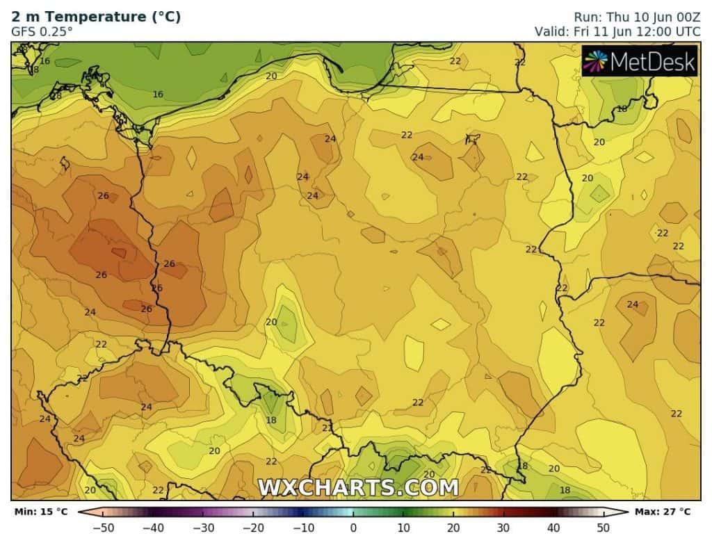 Pogoda na dziś w Polsce. Wysokie temperatury