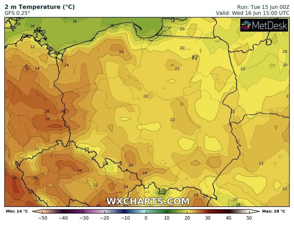 Temperatura dziś w Polsce. Środa 16 czerwca 2021