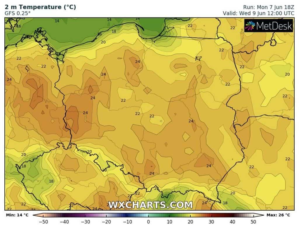 Temperatury na dziś. Pogoda w Polsce