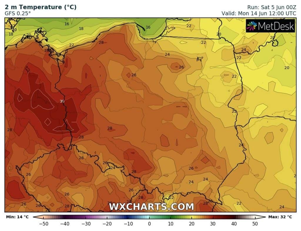 Upał w Polsce po 13 czerwca